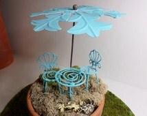 Fairy Umbrella Miniature Gardening Garden Whimsey Enchanted Garden Terrarium Kit Fairy Garden Supply Elfin Pixie Faire Faerie Miniature