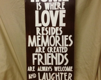 Home is where..., Home, memories, friends, home decor