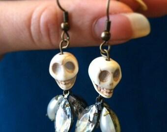White Day of The Dead Earrings