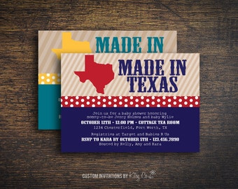 Made in Texas Invitation | Printable Digital File