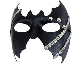 Riveted Studded Men's Masquerade Mask - A-2169-E