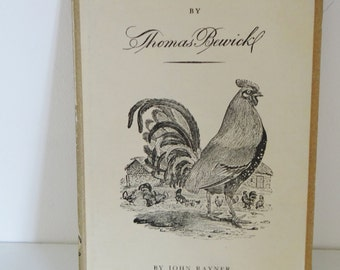 Vintage Wood Engravings 1940s Book of Engravings By Thomas Bewick By John Rayner Published By King Penguin Books