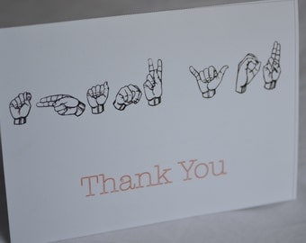 Thank You Card in American Sign Language (ASL)