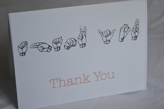 thank you card in american sign language asl