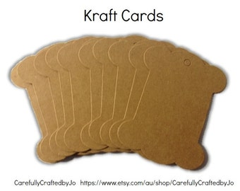 Set of 10,20 - Blank Kraft Cards - DIY- Perfect for organising twine, string and more