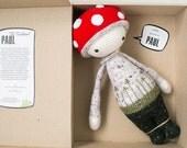 Paul The Toadstool inspired by Lalylala / Crochet Doll / Handmade Amigurumi / Amigurumi animal