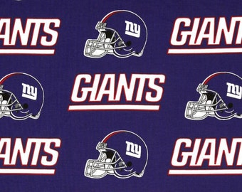 New York Giants 6314D Blue NFL Logo Cotton Fabric by Fabric Traditions! [Choose Your Cut Size]