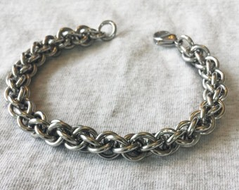 Stainless Steel Jen's Pind Linkage Chain Maille Bracelet Free Shipping