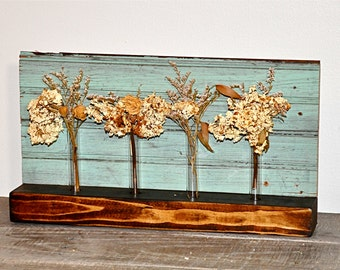 Reclaimed Wood Vase Shelf or Wall Hanging, Reclaimed Wainscoting from 1880's Home, Vintage Vases