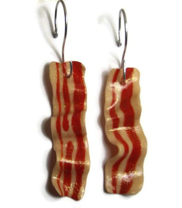 Bacon ornamentset of 2baconbacon loverbacon christmas for Bacon christmas tree decoration