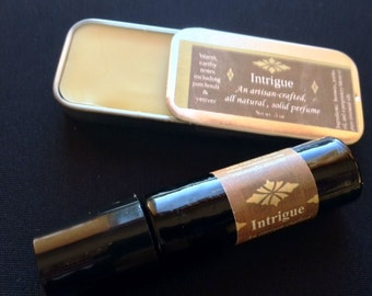 Intrigue Perfume Oil - Dark, earthy & sensual if you like Patchouli, if you like Vetiver, you will love this one.