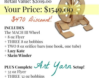 Spinolution Mach 3 Spinning Wheel package deal
