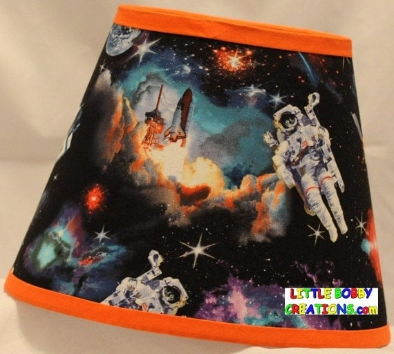 Space shuttle astronaut outer space fabric lamp shade 10 for Space shuttle fabric