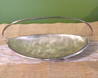 Silverplate Candy Dish Jewelry Trinket Dish Caravelle - Hoka West Germany