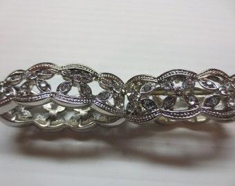 Crystal Petals Stretch Bangle Bracelet