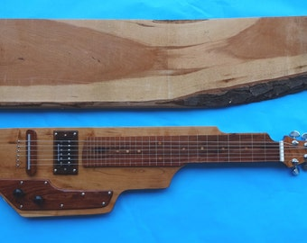 Cherry wood Lap Steel Guitar, complimented with exotic woods
