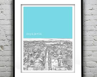 Reykjavik Iceland City Skyline Poster Art Print Item T1158