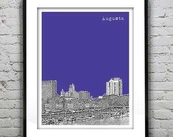 Augusta Georgia Poster Skyline Art Print GA