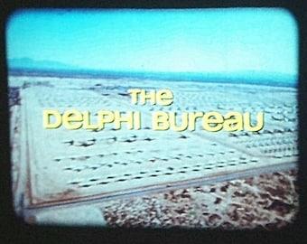 "RARE 16mm Color Sound Film ""The Delphi Bureau"" TV Movie Pilot LPP ""The Merchant of Death Assignment"" from 1972"