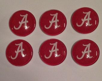 University of Alabama Bubble Magnets - 1 inch