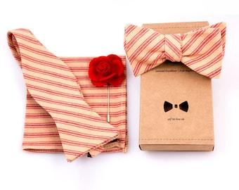 Crimson and Cream Haberdasher's Gift Set