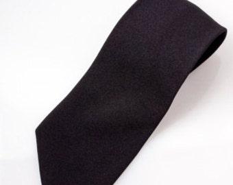 Black Silk Blend Necktie