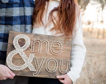 Together (me & you) String Art