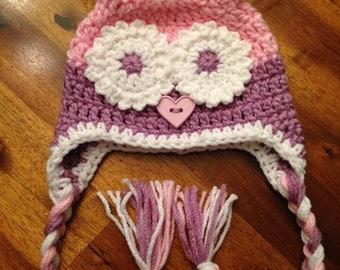 Baby Girl Owl Hat