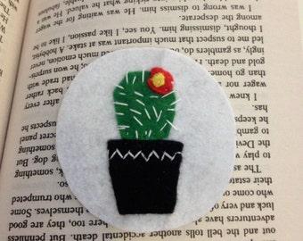 Flowering Cactus Patch/Brooch
