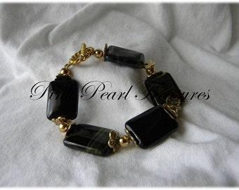 Midnight Beauty stone bracelet