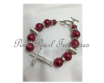 Faithful Red beaded bracelet