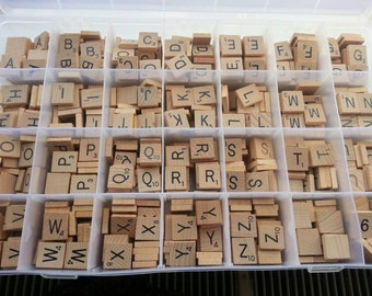 giant scrabble tiles craft set 700 tiles in a 28 sectioned organiser box wooden tiles