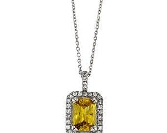 MJ Yellow Sapphire/Diamond pendant