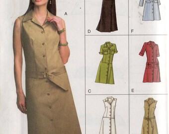Vogue Easy Options Pattern 7873 DRESSES Misses 20 22 24