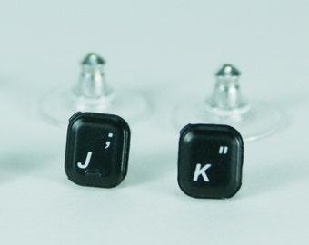 Tiny Keyboard Key Post Earrings YOU PICK the Keys Text It!