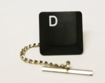 Thin Computer Key Tie Tack YOU PICK KEY Free Gift Bag