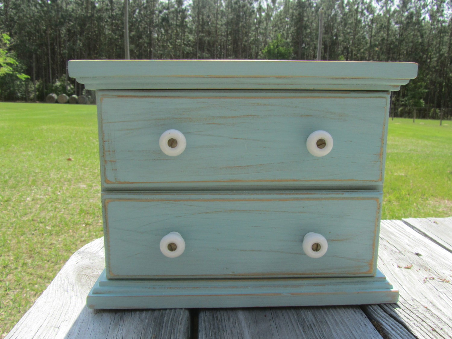 shabby chic storage box small cabinet jewelry box drawers. Black Bedroom Furniture Sets. Home Design Ideas