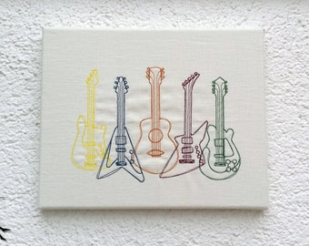 Guitars - Wall deco Wall art