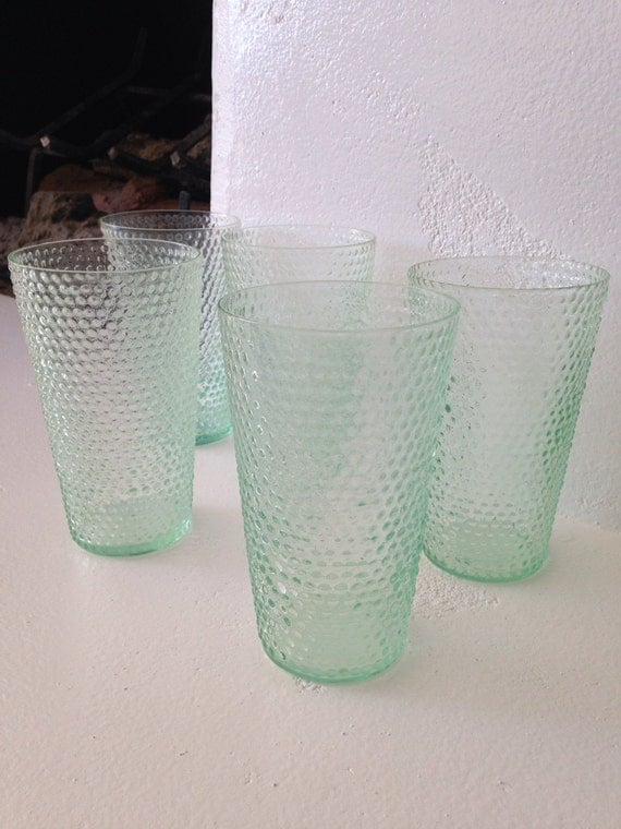 Beautiful Pale Green Bedrooms: Beautiful Very Thin Light Green Hobnail Bubble Vintage Tumbler