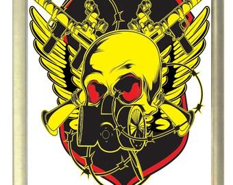 War Skull Fridge Magnet 7cm by 4.5cm,