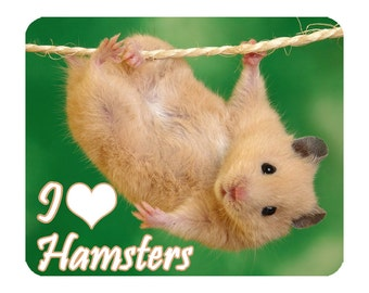Hamsters - I Love Hamsters Mouse Mat Mouse Pad