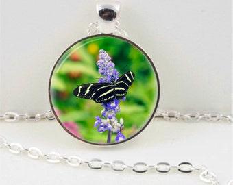 Zebra Butterfly Pendant