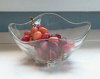 Vintage, Glass, Candy Dish, Nut Dish, Mint Dish, Decorative Bowl, Mid Century, RhymeswithDaughter