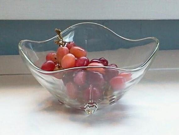 Vintage Glass Candy Dish Nut Dish Mint Dish Decorative
