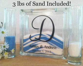 Unity Sand Set - Wedding Sand Set - Unity Sand Ceremony Set - Beach Wedding Decor, Unity Candle Set - Sand Ceremony Set - Sand Set