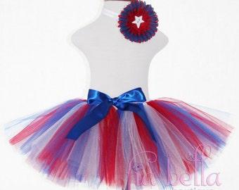 TUTU SKIRT..Fourth of July Tutu Skirt...Newborn Tutu..Baby Tutu..Toddler Tutu..Cakesmash Tutu..Birthday Tutu..4th of July..Summer Dress