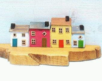 Painted miniature Houses on a Pier