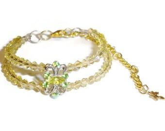 Yellow Crystal Elegance Bracelet
