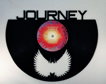Recycled Vinyl Record JOURNEY Wall Art