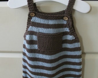 "Knitting Pattern for ""Playtime"" Dungarees"